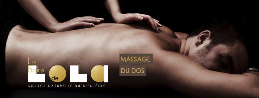 massage du dos destressant